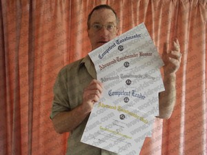 Just some of my certificates - these from Toastmasters International